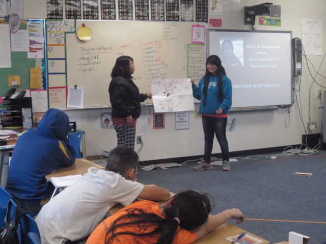 TAAV offers its Healthy Relationships Presentation in a classroom
