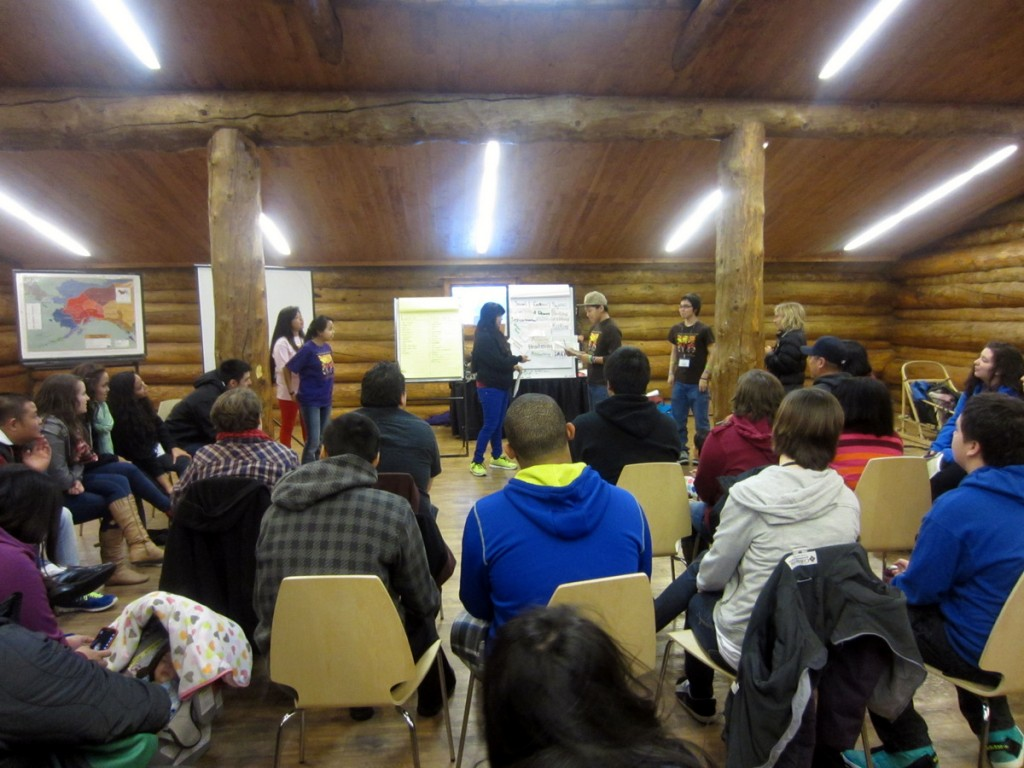 TAAV gives its Healthy Relationships presentation at Lead On! in Anchorage