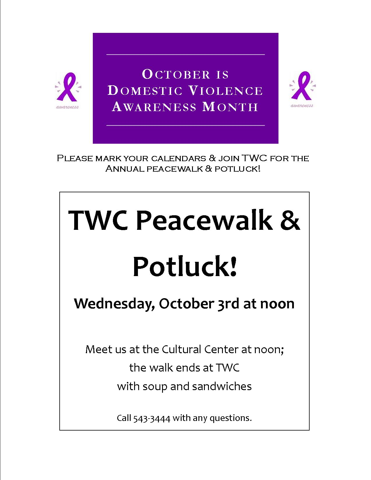 Peacewalk Announcement
