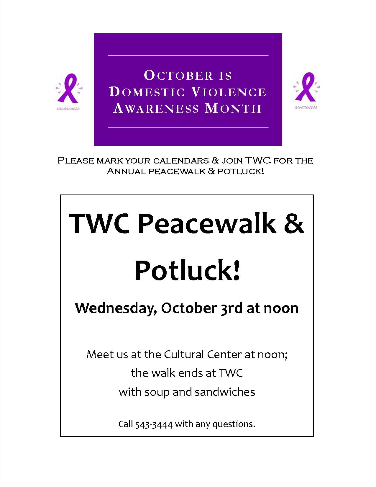 Peacewalk Announcement